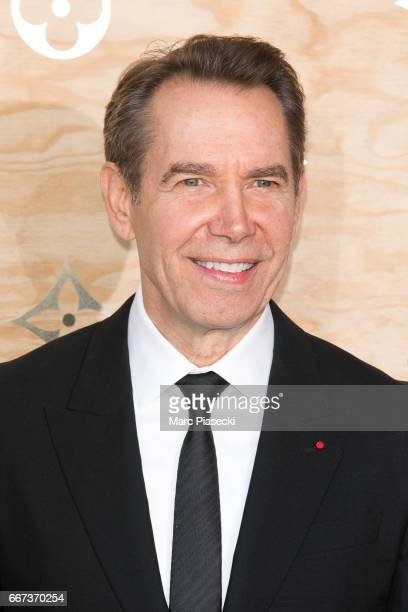 Jeff Koons attends the 'Louis Vuitton Masters a collaboration with Jeff Koons' dinner at Musee du Louvre on April 11 2017 in Paris France