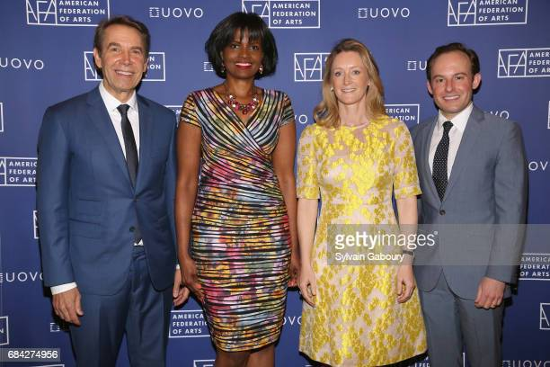 Jeff Koons Pauline Willis Clare McKeon and Scott Rothkopf attend American Federation of Arts 2017 Spring Luncheon with Guest Speaker Jeff Koons at JW...
