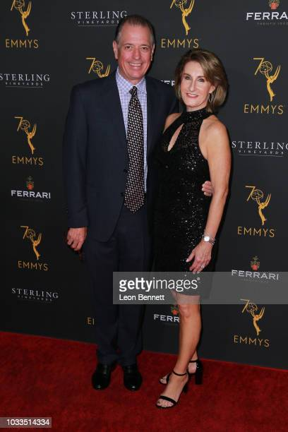Jeff Kopp and guest attend the Television Academy Honors Emmy Nominated Producers at Montage Beverly Hills on September 14 2018 in Beverly Hills...