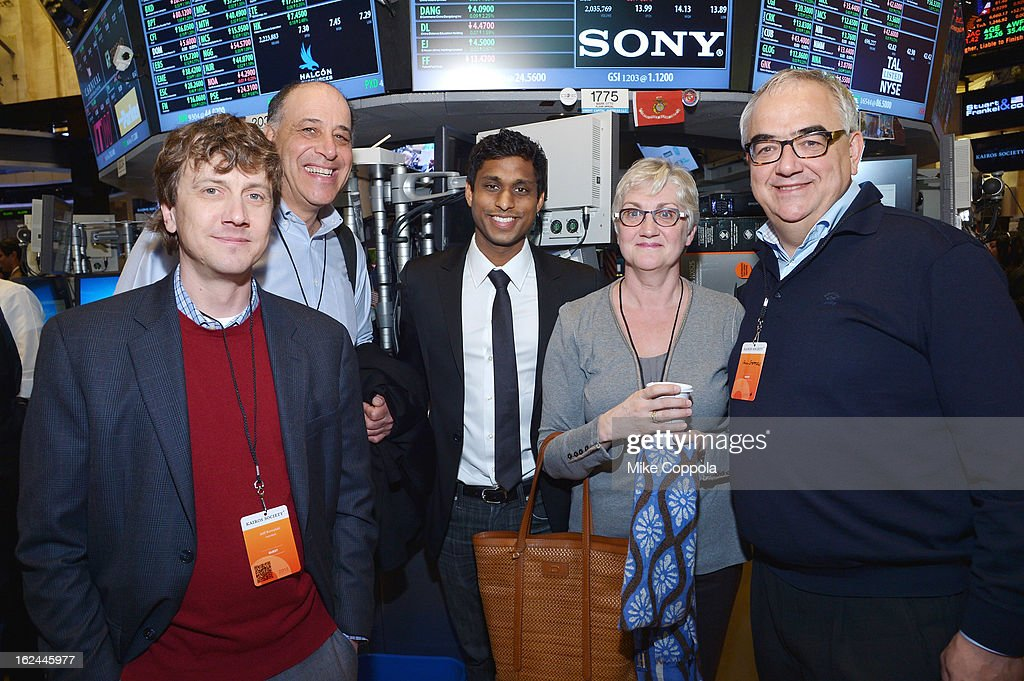 Jeff Kowalski, Carl Bass, Ankur Jain, guest, and Paul Stoffels attend the Kairos Society Global Summit at New York Stock Exchange on February 23, 2013 in New York City.