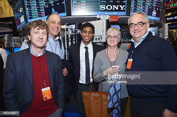 Jeff Kowalski Carl Bass Ankur Jain guest and Paul Stoffels attend the Kairos Society Global Summit at New York Stock Exchange on February 23 2013 in...