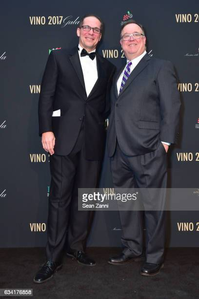 Jeff Kralik and Tom Riley attend VINO 2017 Gala Presented by the Italian Trade Commission at Spring Studios on February 6 2017 in New York City