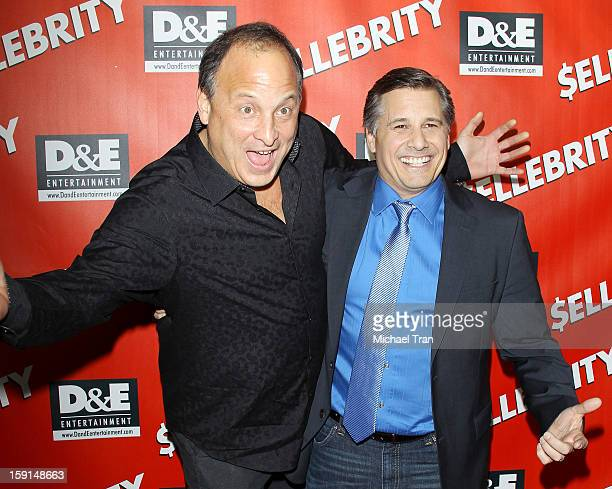 Jeff Kravitz and Kevin Mazur arrive at the Los Angeles premiere of $ellebrity held at Chinese 6 Theatres on January 8 2013 in Los Angeles California