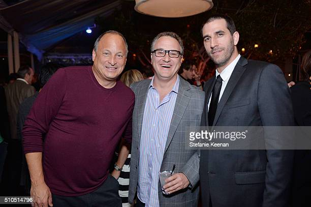 Jeff Kravitz Jason Weinstock and Marc Allen attend Red Light Management 2016 Grammy After Party presented by Citi at Mondrian Hotel on February 15...