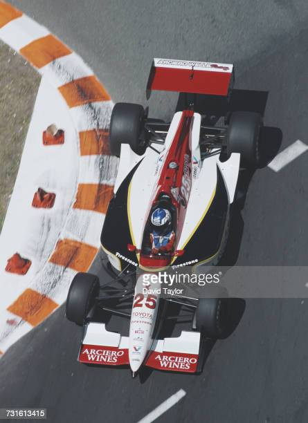 Jeff Krosnoff of the United States drives the ArcieroWells Racing Reynard 96i Toyota V8t during practice for the Championship Auto Racing Teams 1996...