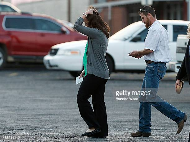 Jeff Kyle brother of slain Navy SEAL Chris Kyle walks to his vehicle after leaving the Erath County Donald R Jones Justice Center February 11 2015 in...