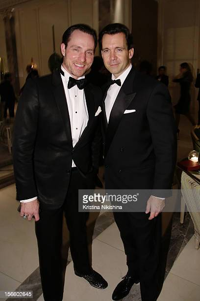 Jeff Leatham and Christopher W Norton arrive at the launch of the Four Seasons Hotel Baku on November 17 2012 in Baku Azerbaijan