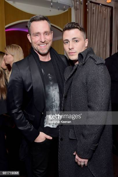 Jeff Leatham and Colton Haynes attend Lorraine Schwartz launches The Eye Bangle a new addition to her signature Against Evil Eye Collection at...