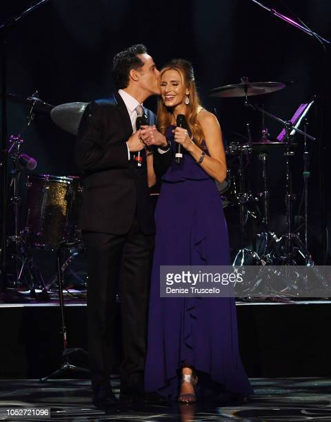 Jeff Leibow and Melody Leibow perform at Las Vegas's 8th annual NF Hope Concert A Benefit for Neurofibromatosis at the Palazzo Theatre at The Palazzo...