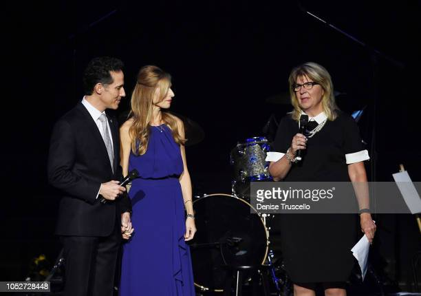 Jeff Leibow and Melody Leibow speak at Las Vegas's 8th annual NF Hope Concert A Benefit for Neurofibromatosis at the Palazzo Theatre at The Palazzo...