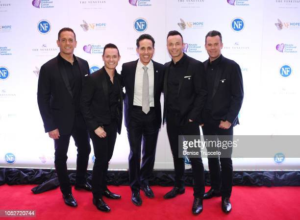 Jeff Leibow and musical group Human Nature arrive at Las Vegas's 8th annual NF Hope Concert A Benefit for Neurofibromatosis at the Palazzo Theatre at...