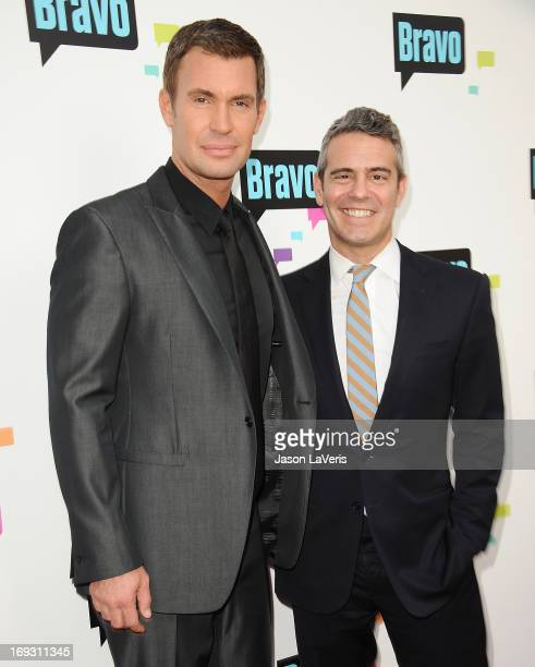 Jeff Lewis and Andy Cohen attend Bravo Media's 2013 For Your Consideration Emmy event at Leonard H Goldenson Theatre on May 22 2013 in North...