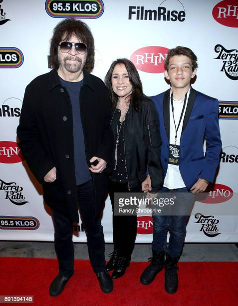 Jeff Lynne Camelia Kath and Hamish Sinclair arrive to the LA screening of Chicago The Terry Kath Experience at Ahrya Fine Arts by Laemmle on December...