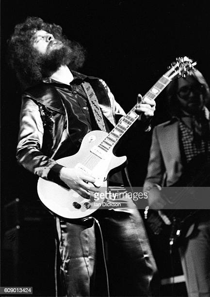 Jeff Lynne of Electric Light Orchestra performing on stage at Rainbow Theatre London 23 March 1973