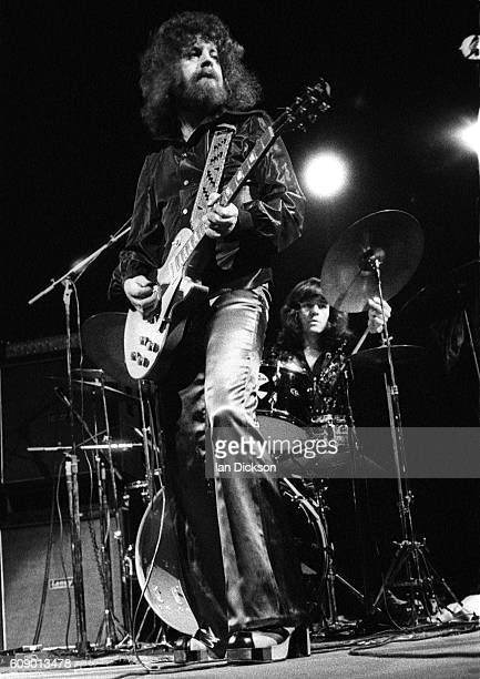 Jeff Lynne of Electric Light Orchestra performing on stage at Rainbow Theatre, London 23 March 1973.
