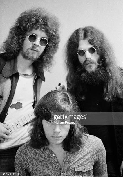 Jeff Lynne, Roy Wood and Bev Bevan of the Move backstage at BBC TV studios, London, 1971. The three were also simultaneously members of Electric...