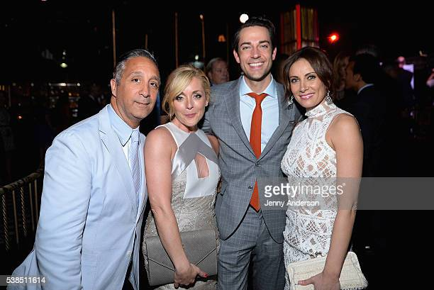 Jeff Mahshie Jane Krakowski Zachary Levi and Laura Benanti attend the Tony Honors Cocktail Party presenting the 2016 Tony Honors For Excellence In...