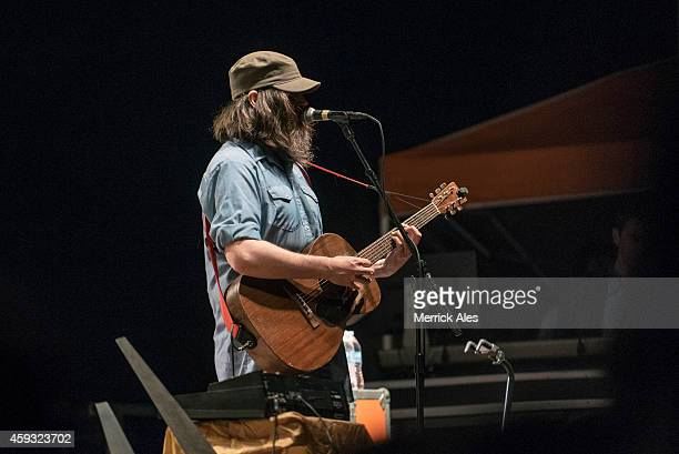 Jeff Mangum of Neutral Milk Hotel performs in concert during Day 3 of Fun Fun Fun Fest at Auditorium Shores on November 9 2014 in Austin Texas