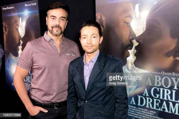 Jeff Marchelletta and Josh Mandel attend the Premiere Of Samuel Goldwyn Films' A Boy A Girl A Dream at ArcLight Hollywood on September 11 2018 in...