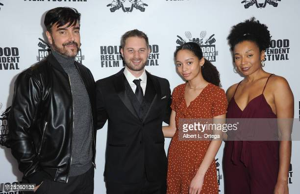 Jeff Marchelletta David C Keith Gabriel Goodman and Eva La Dare arrive for The 2019 Hollywood Reel Independent Film Festival held at Regal LA Live...