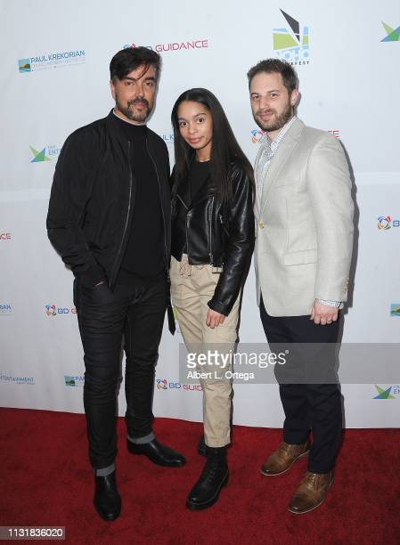 Jeff Marchelletta Gabrielle Goodman and David C Keith arrive for the 6th Annual North Hollywood CineFest Opening Night held at The Federal Bar on...