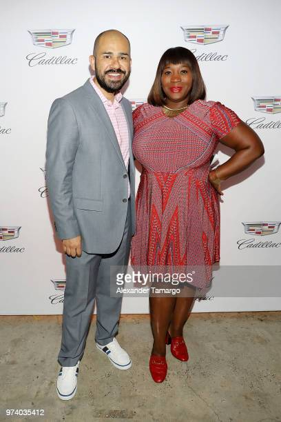 Jeff Meza and Bevy Smith attend the Cadillac Welcome Luncheon At ABFF Black Hollywood Now The Temple House on June 13 2018 in Miami Beach Florida
