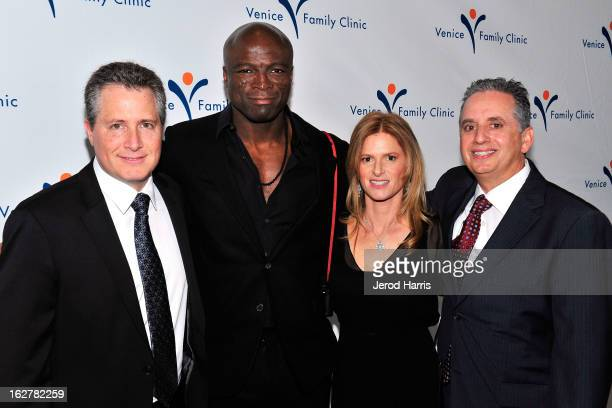 Jeff Nathanson Seal Julie Liker and Dr Harley Liker arrive at the 34th Annual Silver Circle Gala benefitting the Venice Family Clinic at the Beverly...