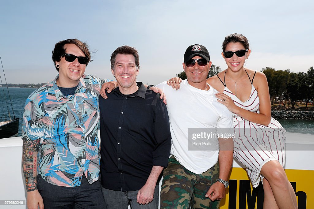 Jeff Negus, Brian Horton, Brian Bloom and Jamie Gray Hyder of Call Of Duty attend the IMDb Yacht at San Diego Comic-Con 2016: Day Three at The IMDb Yacht on July 23, 2016 in San Diego, California.