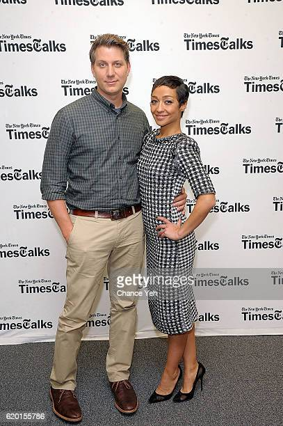Jeff Nichols and Ruth Negga attend TimesTalks to discuss the film Loving at the TimesCenter on November 1 2016 in New York City