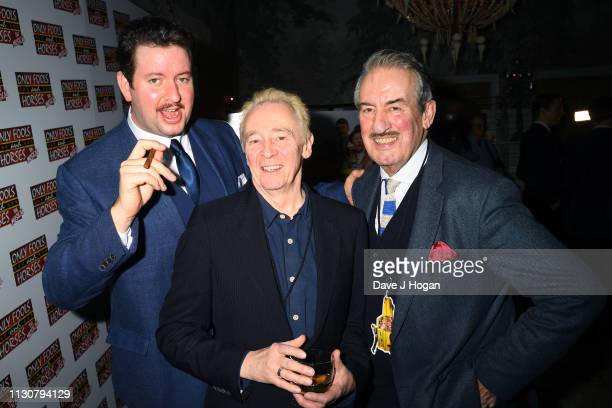 Jeff Nicholson Paul Whitehouse and John Challis attend the after show party following the opening night of Only Fools and Horses The Musical at...