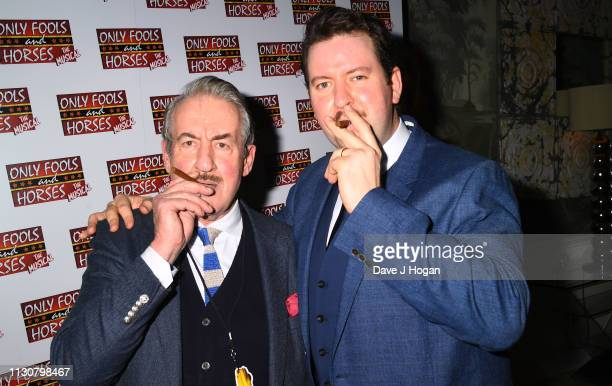 Jeff Nicholsonand John Challis attend the after show party following the opening night of Only Fools and Horses The Musical at Theatre Royal...