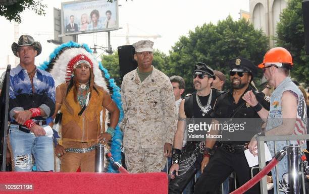 Jeff Olson Felipe Rose Alexander Briley Eric Anzalone Ray Simpson David Odo attend the Ceremony to honor The Village People with a star on The...