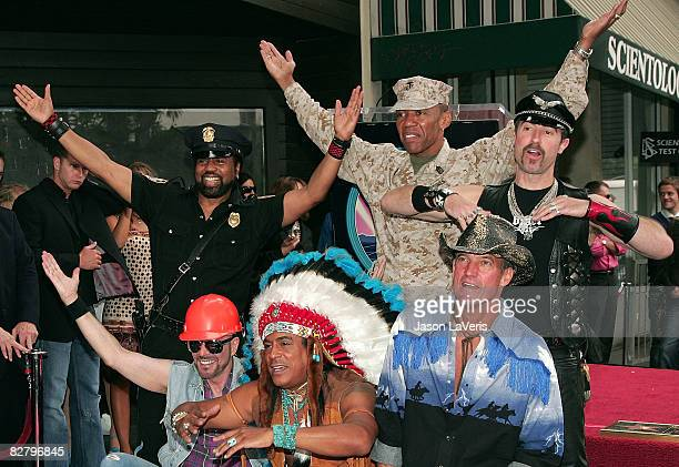 Jeff Olson Felipe Rose David Hodo Eric Anzalone Alex Briley and Ray Simpson of The Village People are inducted into the Hollywood Walk of Fame on...
