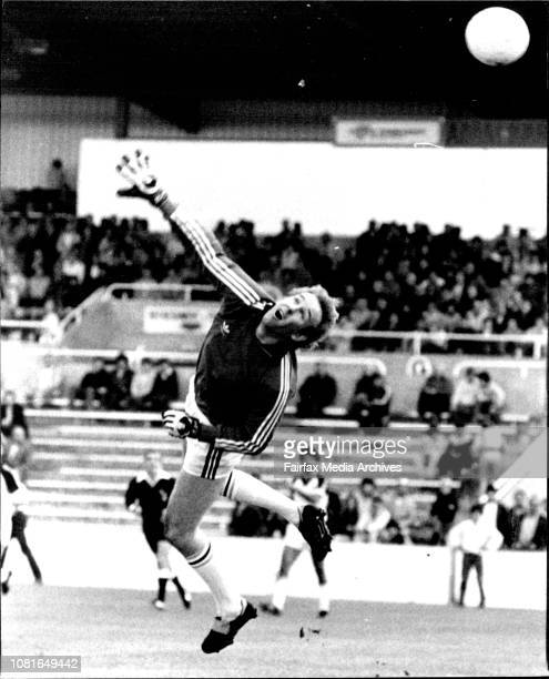 Jeff Olver NSL Soccer at Barton Park St George Vs Heidelberg Goal keeper June 05 1983