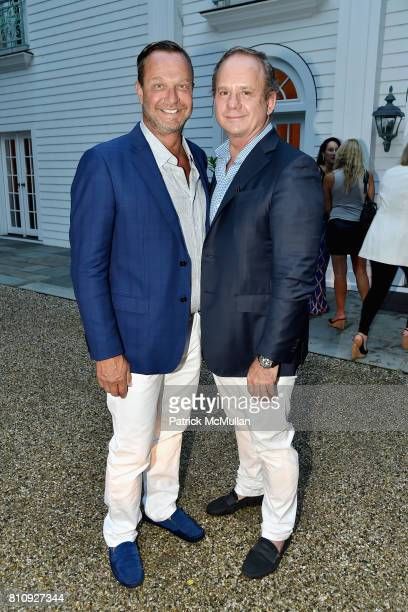 Jeff Ornstein and Andre Goy attend Katrina and Don Peebles Host NY Mission Society Summer Cocktails at Private Residence on July 7 2017 in...