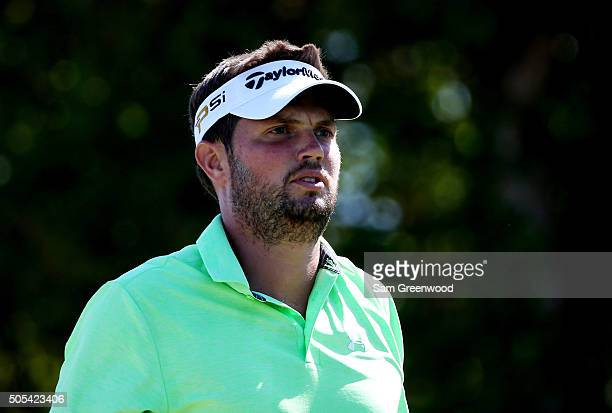 Jeff Overton walks from the first tee during the final round of the Sony Open In Hawaii at Waialae Country Club on January 17 2016 in Honolulu Hawaii