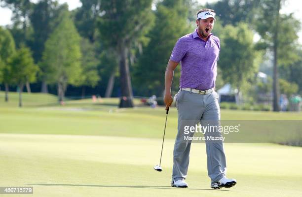 Jeff Overton yawns as he prepares to putt on the 9th at the end of his round during Round Two of the Zurich Classic of New Orleans at TPC Louisiana...