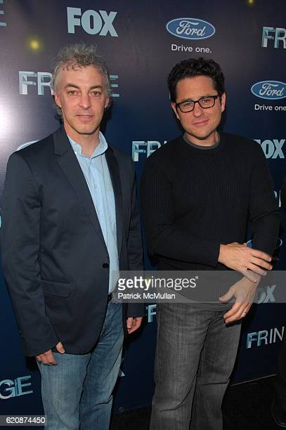 Jeff Pinker and JJ Abrams attend FRINGE red carpet arrivals at The Xchange NYC on August 25, 2008.