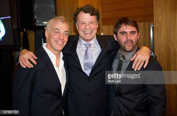 """Jeff Pinkner, John Noble and Roberto Orci during """"Fringe"""" celebrates 100 episodes and final season at Fairmont Pacific Rim on December 1, 2012 in..."""