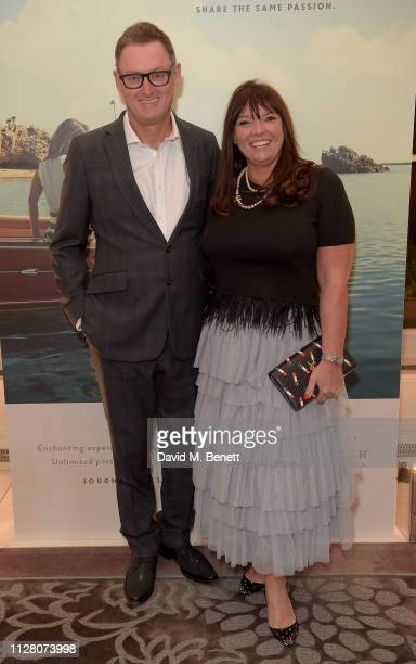 Jeff Pope and Tina Pope attend the Fifth annual Newport Beach Film Festival UK Honours at The Langham Hotel on February 07 2019 in London England