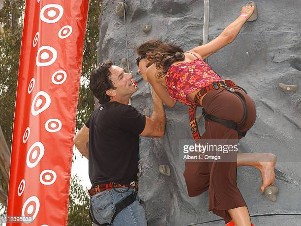 Jeff Probst and Julie Berry during Elizabeth Glaser Pediatric AIDS Foundation A Time For Heroes Celebrity Carnival Inside in Los Angeles California...