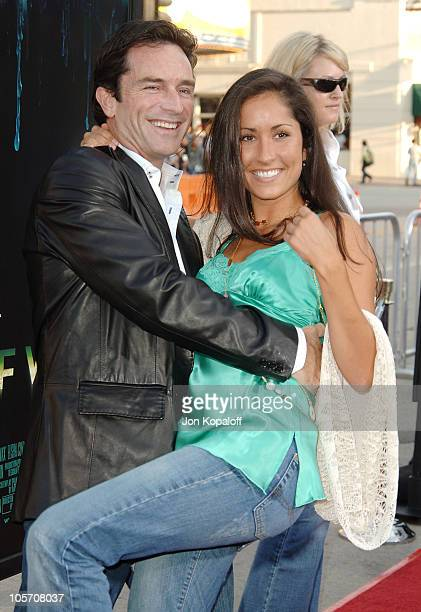 Jeff Probst and Julie Berry during House of Wax Los Angeles Premiere Outside Arrivals at Mann Village Theater in Westwood California United States