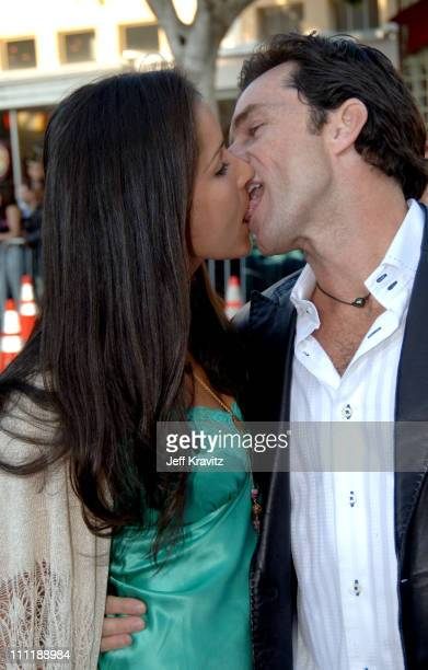 Jeff Probst and Julie Berry during 'House of Wax' Los Angeles Premiere Arrivals at Mann Village in Los Angeles California United States