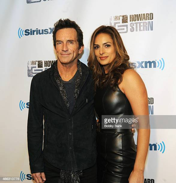 """Jeff Probst and Lisa Ann Russell at SiriusXM's """"Howard Stern Birthday Bash"""" at Hammerstein Ballroom on January 31, 2014 in New York City."""