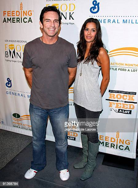 Jeff Probst and Sheetal Sheth arrive at the 'Rock A Little Feed A Lot' Benefit Concert at Club Nokia on September 29 2009 in Los Angeles California