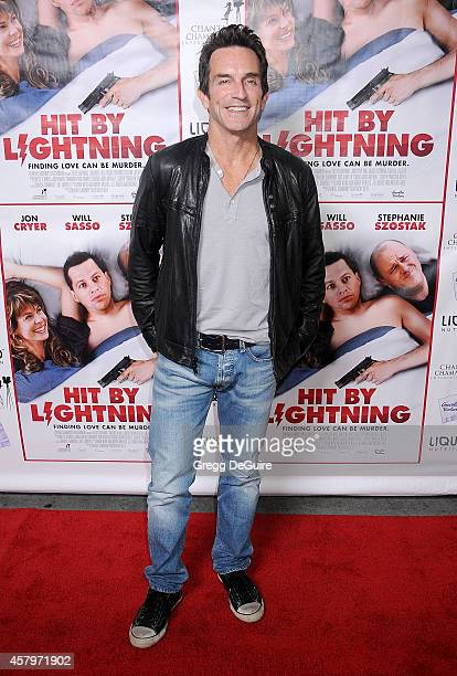 Jeff Probst arrives at the Los Angeles premiere of 'Hit By Lightning' at ArcLight Hollywood on October 27 2014 in Hollywood California
