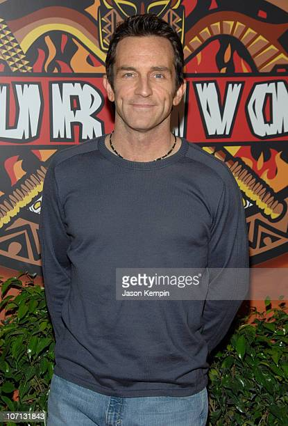 Jeff Probst during Survivor Fiji Finale/Reunion Show Red Carpet at The Ed Sullivan Theater in New York City New York United States