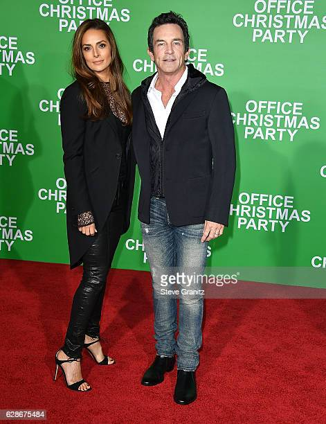 """Jeff Probst, Lisa Ann Russell arrives at the Premiere Of Paramount Pictures' """"Office Christmas Party"""" at Regency Village Theatre on December 7, 2016..."""