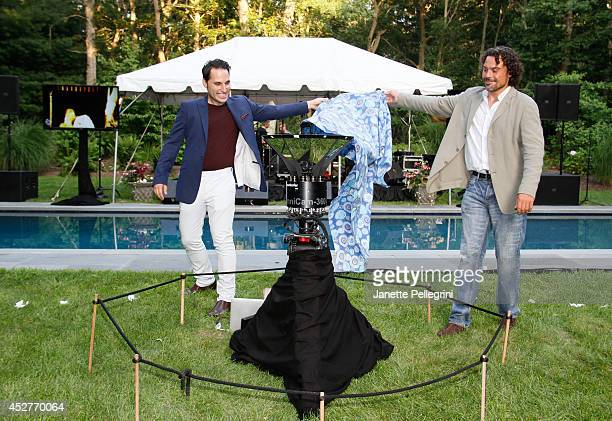 Jeff Prosserman and Kris King attend Livestage Summer Splash For the Love of Music Launch Event on July 26 2014 in East Hampton New York