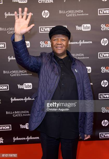 Jeff Radebe attends the Global Citizen Festival at the Barclaycard Arena on July 6 2017 in Hamburg Germany